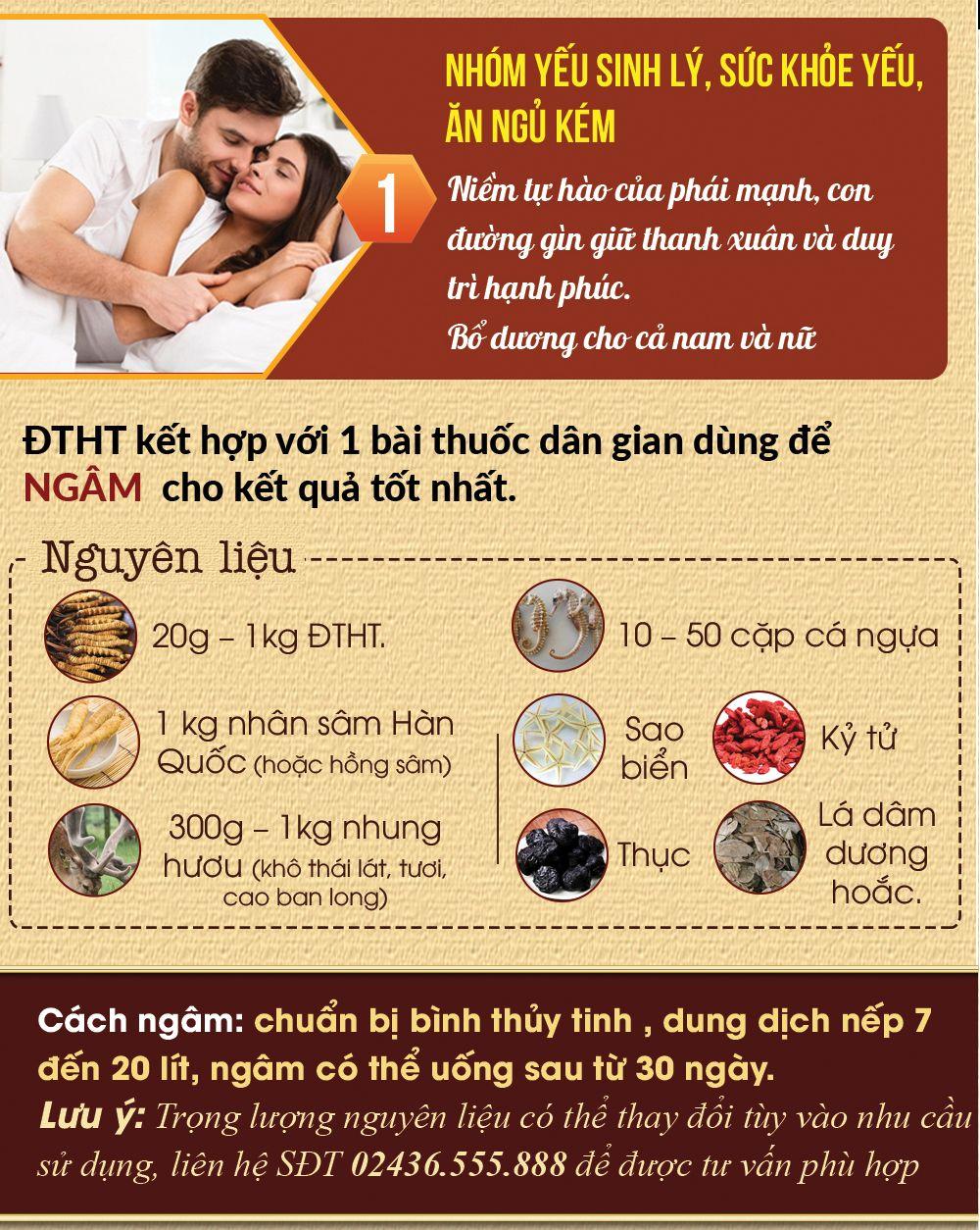 Cách dùng đông trùng hạ thảo cho từng nhóm bệnh