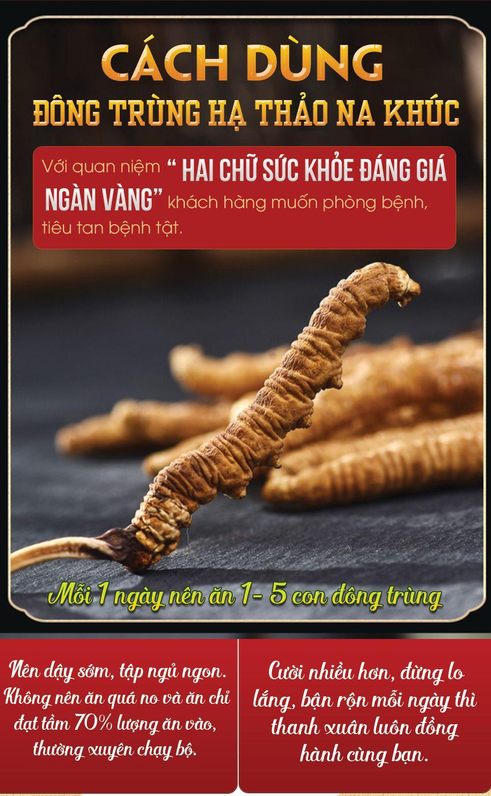 Mùi hương và vị của con đông trùng hạ thảo