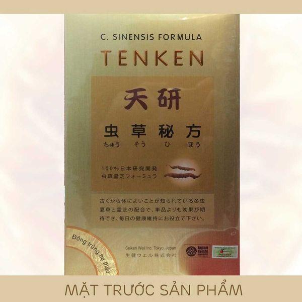 Mặt trước hộp đông trùng hạ thảo Tenken