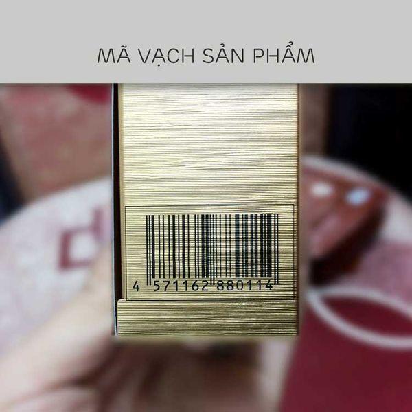Mã vạch của sản phẩm được in trên nắp hộp