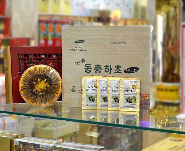 Đông trùng hạ thảo Samsung hộp gỗ nhập khẩu từ Hàn Quốc