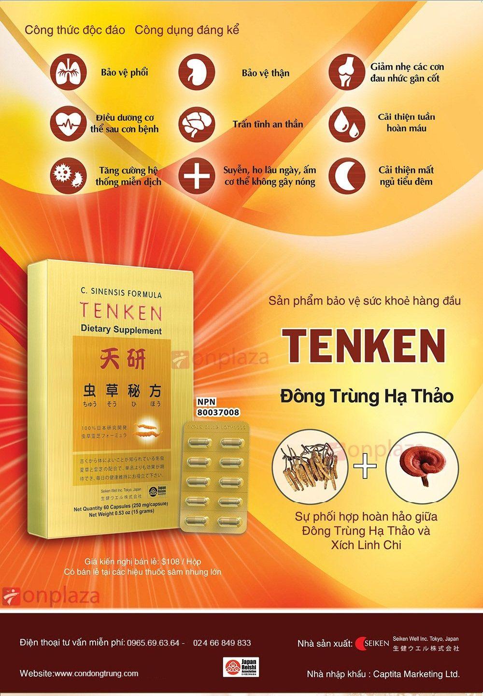Tác dụng của viên đông trùng hạ thảo TenKen