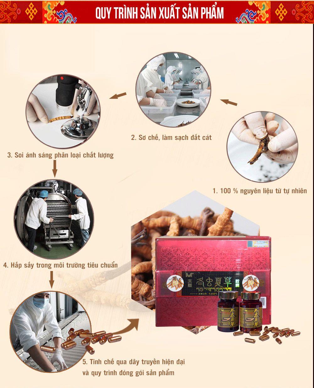 Quy trình sản xuất viên đông trùng hạ thảo