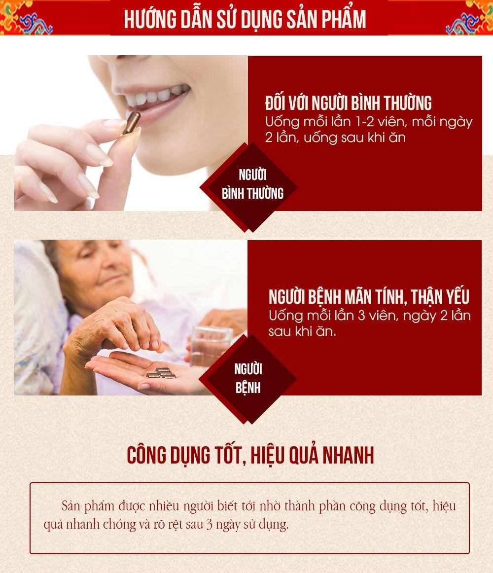 Hướng dẫn cách sử dụng viên đông trùng hạ thảo