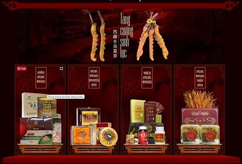 Giá bán các loại sản phẩm đông trùng hạ thảo