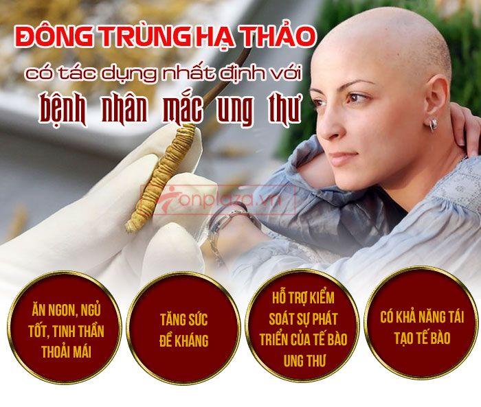 Tác dụng của đông trùng hạ thảo chữa bệnh ung thư