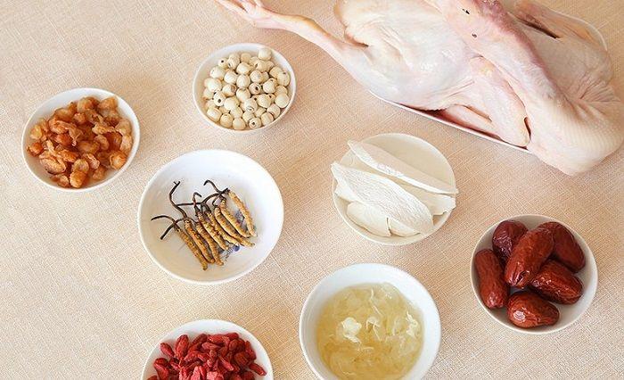 Nguyên liệu chế biến món đông trùng hạ thảo hầm thịt vịt